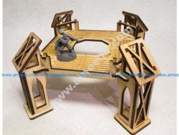 Level 1 wide octagonal building for 3mm laser cut