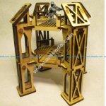 Level 2 narrow octagonal building for 3mm laser cut
