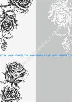 Rose Sandblast Pattern