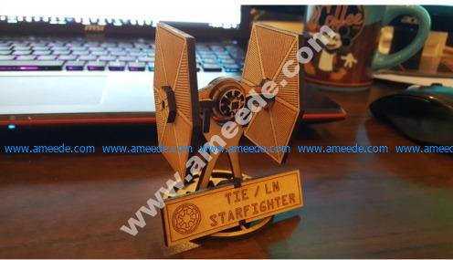 Small Tie Fighter with Stand