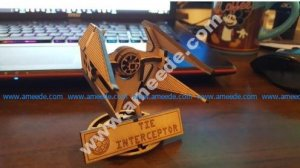 Small Tie Interceptor with Stand Lasercut
