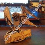 Small Tie Interceptor with Stand Lasercut