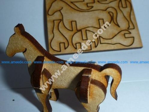Tiny, lasercut horse