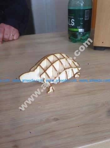 laser cut turtle