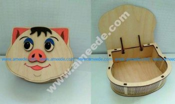 pig head box