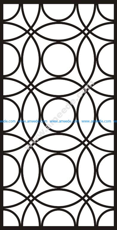 Interlocking engraving pattern