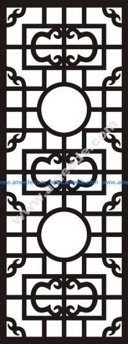 Chinese style cartoon flat waist line pattern