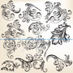 Ornate swirls vector
