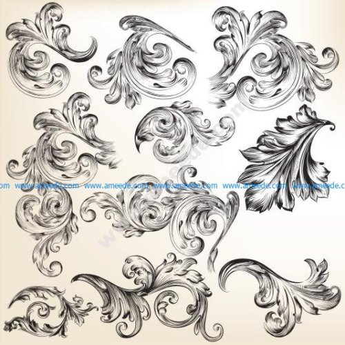 Ornate swirls vector