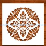 Laser Cut Spring Flower stencil Template