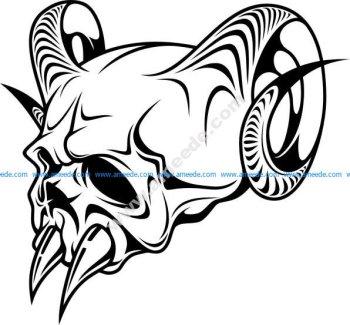 Horror demon or evil skull