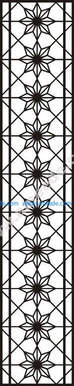 Chinese partition wall pattern