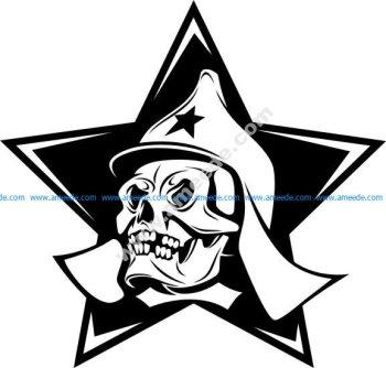 Uni soviet star skull