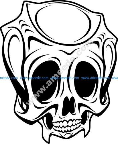 Demon scary Skull
