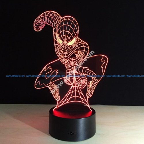 3D LED Spider Man Night Light