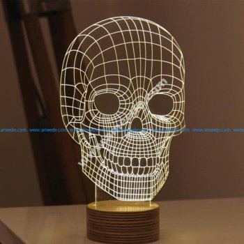 Skull 3D Illusion Lamp LED Night Lights