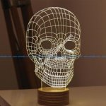 Skull 3D Illusion Lamp LED Night Lights