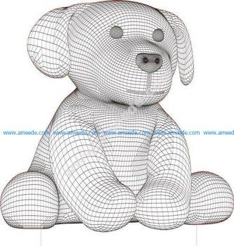 Dog 3d illusion lamp