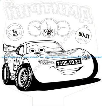 Funny car 3D Illusion Lamp LED Night Lights