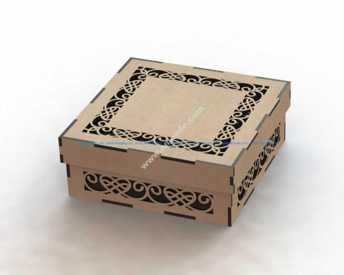 Laser Cut Box with Lid Template