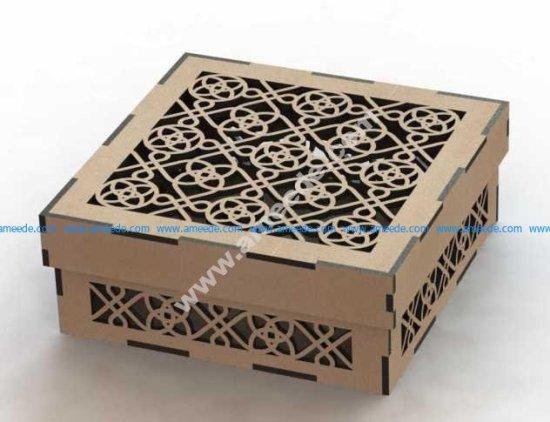 Laser Cut Wooden Box Template
