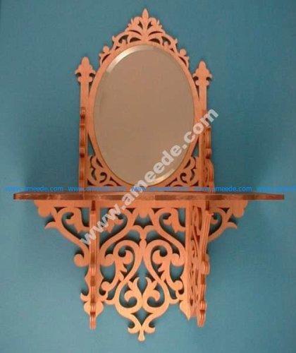 Oval Mirror Shelf Scroll Saw Pattern