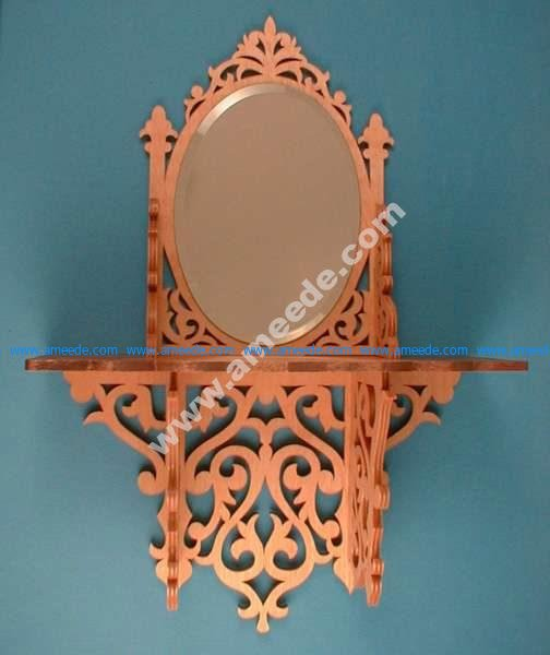 Oval Mirror Shelf Scroll Saw Pattern