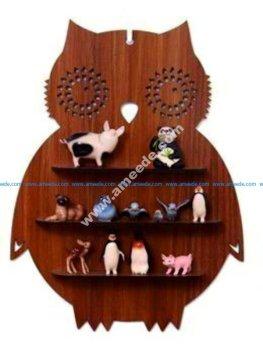 Owl Shelf Laser Cut CNC Plans