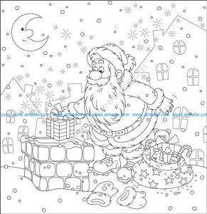 Santa Gifts On Vector