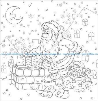 Santa Gifts On Vector