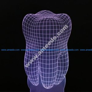 Tooth 3d illusion lamp vector file