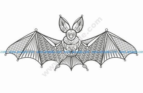 Vector Illustration Cartoon Bat