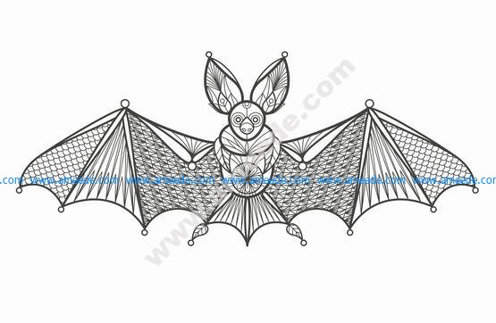 Vector Illustration Cartoon Bat