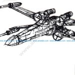 X-Wing 3d illusion lamp