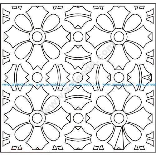 pattern vector cnc carvings 2D13