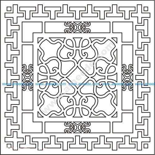 pattern vector cnc carvings 2D15