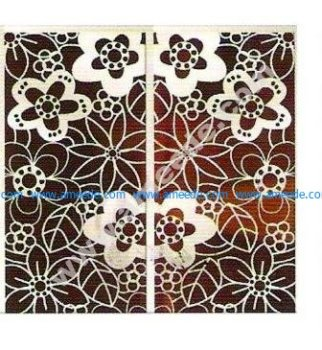 pattern vector cnc carvings 2D4