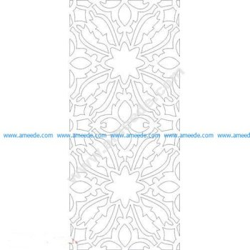 pattern vector cnc carvings 2D6