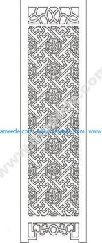 pattern vector cnc carvings 2D9