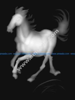 3D Grayscale Horse BMP