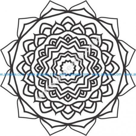 Dahlia flower pattern design