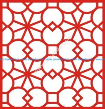 European-style window saw pattern
