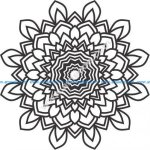 Flower pattern laser engraving patterns