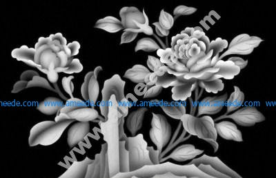 Flowers 3D Grayscale Images for 3D Engraving BMP