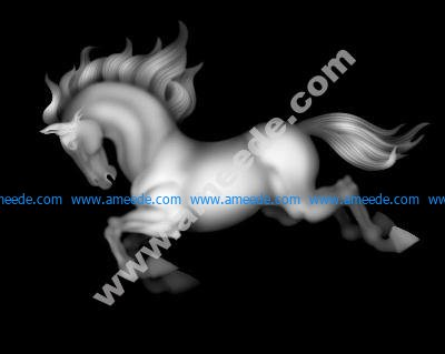 Horse grayscale image BMP