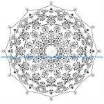 Mandala Round Ornament Design