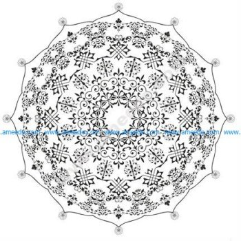 Mandala Round Ornament Design