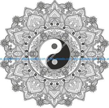 Mandala Yin Yang EPS