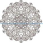 Mandala design drawing vector Free