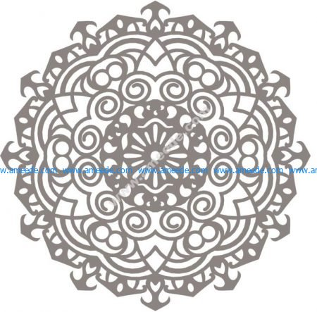 Mandala design drawing vector Free